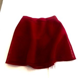 7th Avenue Red Flare Skirt with Pockets